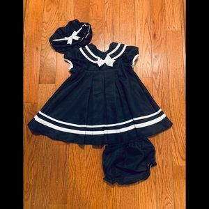 Rare Edition sailor 3-piece dress set